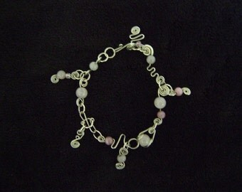 Handmade Sterling Silver Wire Charm Bracelet