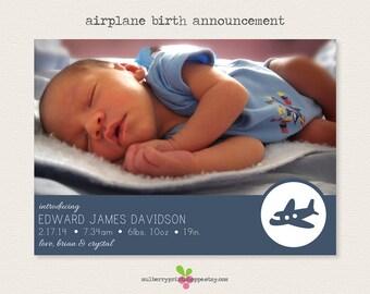 Airplane Birth Announcement