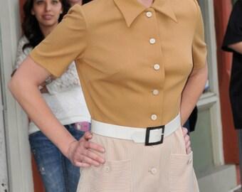 1960s 1970s Kay Windsor Mod Syle Dress