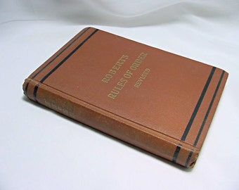 Vintage Book - Robert's Rules Of Order For Deliberative Assemblies  - Printed 1943