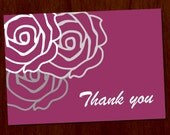 Rose 3.5x5 Printable Thank You Card