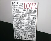 Fall in LOVE Happily Ever After Printable Folded Card