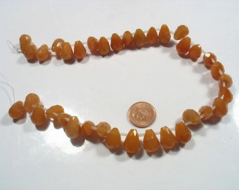 SPECIAL DEAL- 2 x strands of Carnelian faceted tear drop- Time to go 25