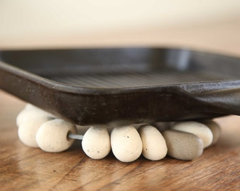 Ceramic Pebble Trivet