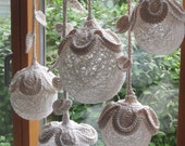 PDF Crochet Pattern Tutorial Flower Ball Decor Light Decoration Lighting Home decor Lamp Shade Crochet Lantern