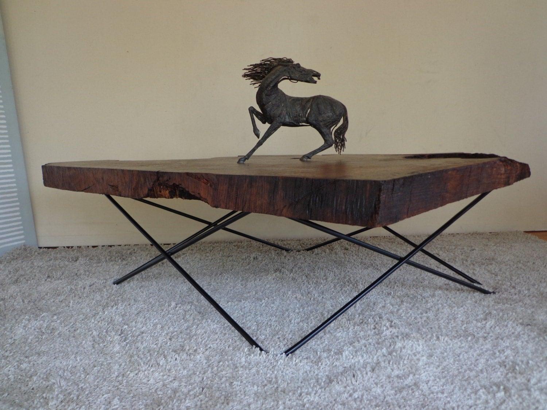 Redwood Burl Coffee Table With Custom Base