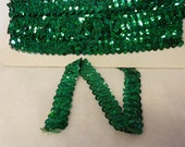 "5 yds of 3/4"" Kelly Spotlight Stretch Sequin Trim"