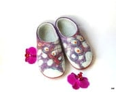 "felted slippers for women ""Butterfly ""- to relax your feet-warm gift-ecological-in fashion-8,5US - AMdreAM"