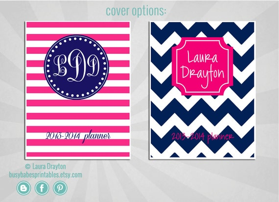 2014 personalized planner letter size by lauradraytoncreative for Custom photo planner
