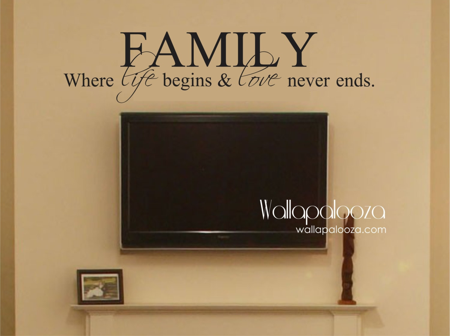 Family Where Life Begins And Love Never Ends Family Wall Decal