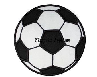 Digital Machine Embroidery Design -  Soccer Ball Applique