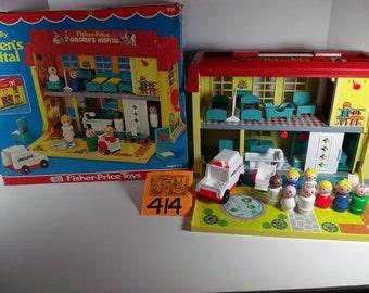 1976 Playskool Childrens Hospital Playset