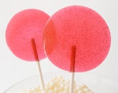 Pomegranate Blackberry Ginger Gourmet Lollipops - Pick Your Size- Luxe Lollies - Wedding Favors