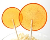 Grapefruit Chamomile Cardamom Gourmet Lollipops - Pick Your Size - Party Favors - Wedding Favors LuxeLollies