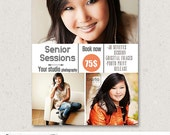 INSTANT DOWNLOAD 5x7 Senior Photography Marketing board vol.5 - PSD Newsletter template