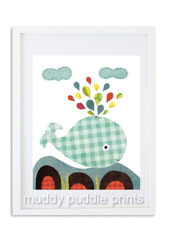 Items Similar To Whale Nursery Print Nursery Decor