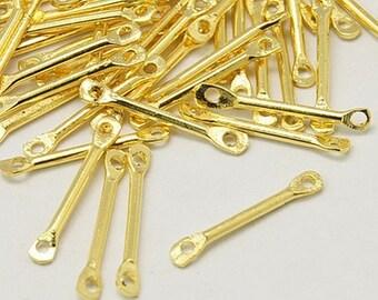 1/2OZ Gold Bar Link 15mm