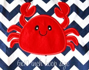 Crab Applique Design INSTANT DOWNLOAD