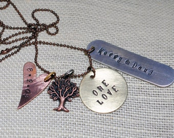 Metal Hand Stamped Necklace