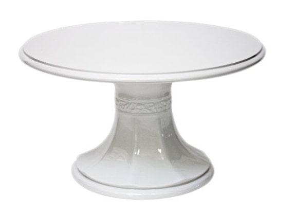 18 Inch White Pedestal Wedding Cake Stand