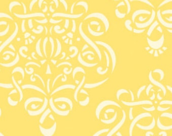 1/4m Taza Ribbon Damask Yellow - Dena Designs