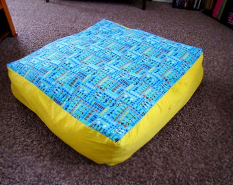 Customized Giant Floor Pillow Cover W/ Zipper