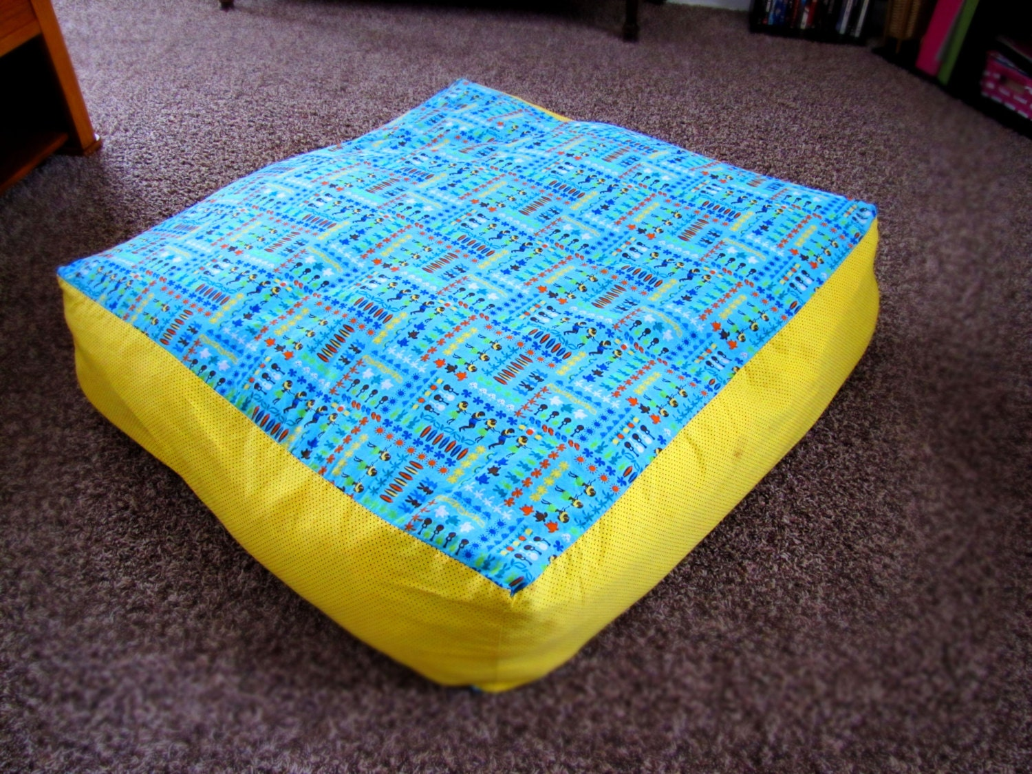 Zippered Floor Pillows : Customized Giant Floor Pillow Cover w/ zipper by HugsLove on Etsy