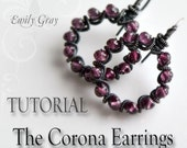 NEW Jewelry Tutorial oOo The CORONA Earrings oOo  Emily Gray -  Wirework Jewelry Making