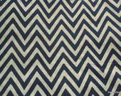 Chevron Print - Blue and Pale White Soft Cotton Fabric by Yard