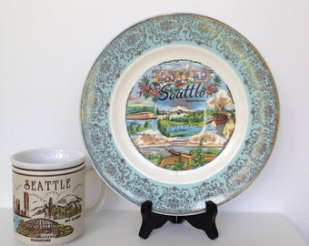 Seattle 70's Memorabilia Plate and Cup