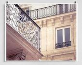 Paris photography - Balcony - Paris photo,Fine art photography,Paris decor,8x10 wall art,white,Fine art prints,Art Posters,Paris art