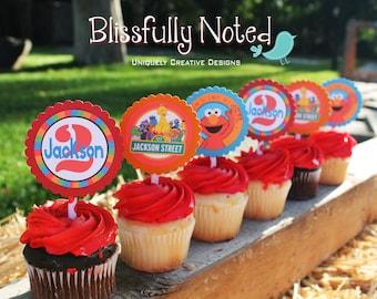 Elmo - Sesame Street Cupcake Toppers