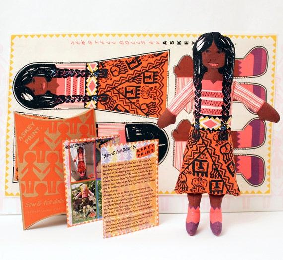 Rag Doll Craft Kit. Gift for Girls.
