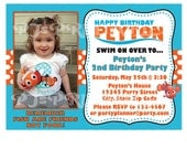 Finding Nemo Birthday Invitation - Custom Digital File