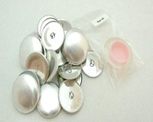 "100 Aluminum Wire Loop Self Cover Buttons Size 45 (1 1/8"")"