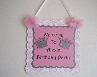 Princess Door Sign....Happy Birthday Door Sign