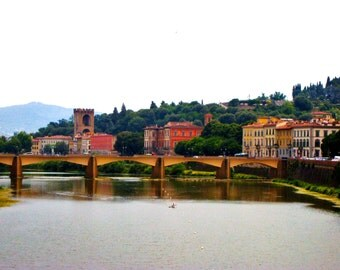 Travel Photography-The Arno River in Florence, Italy-Fine Art, Landscape, European, Tuscan Photography