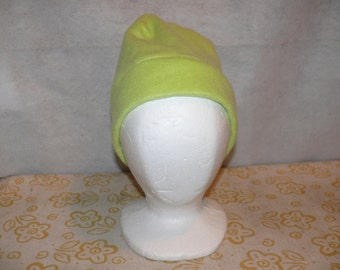 Lt. Yellow Green Fleece Hat