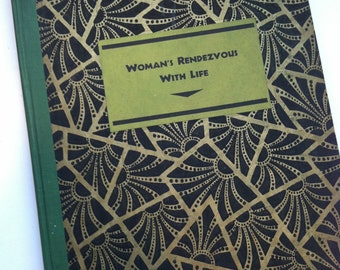 Antique Book - Woman's Rendezvous With Life - Bound Arts & Decoration Magazine October, 1929