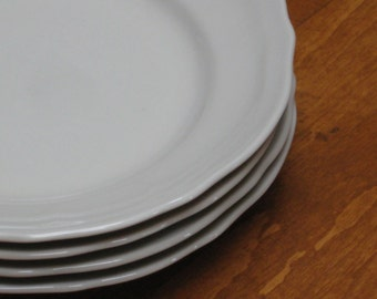 """From Portugal - """"Coimbra"""" Set of Four Dessert Bread Wedding Cake Plates"""