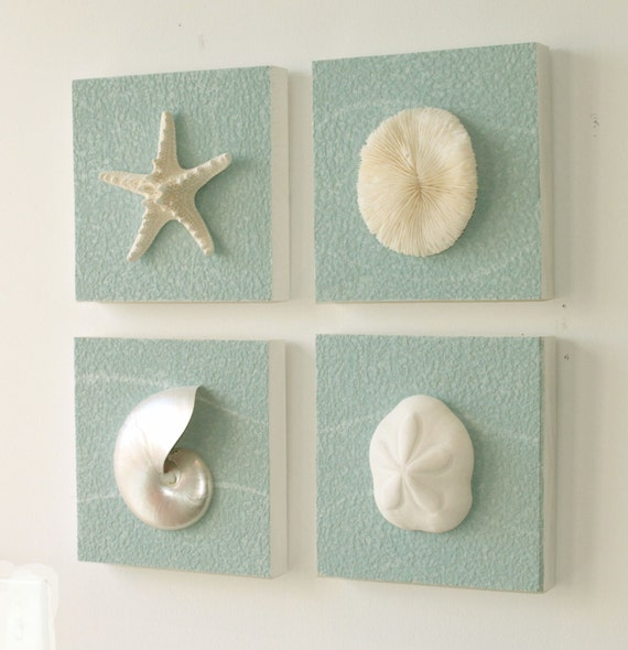Beach Coastal Wall Decor : Items similar to beach decor on driftwood panel for