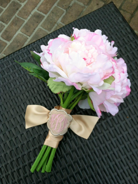 monogram bridal bouquet charms wedding by emmabellasdesigns