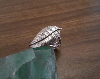 sterling sillver leaf ring