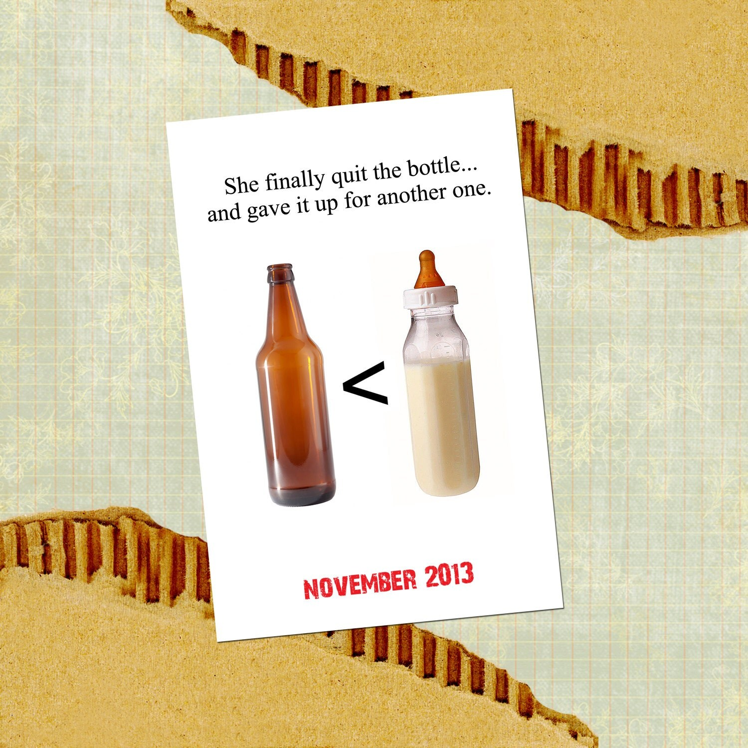 Items Similar To Quit The Bottle Funny Pregnancy