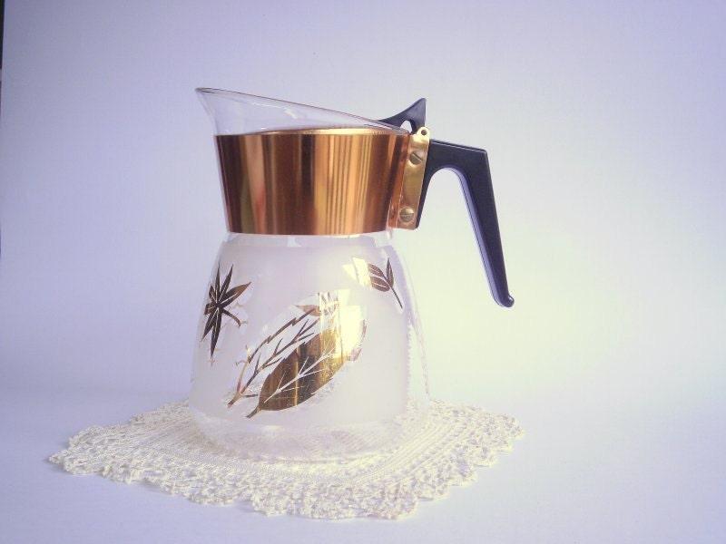 Modern Glass Coffee Maker : Mid Century Modern Vintage Glass Coffee Pot. Glass Drink