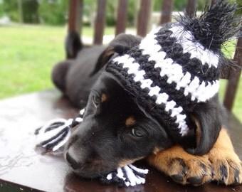 Zebra Dog Hat, Zebra Hat for Dogs, Zebra Dog Costume, Zebra Costume for Dogs