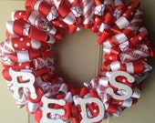 Cincinnati Reds Ribbon Wreath