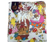 "Alice in Wonderland Harajuku Anime Gadget Case Zip Pouch Fits 7"" Tablet"