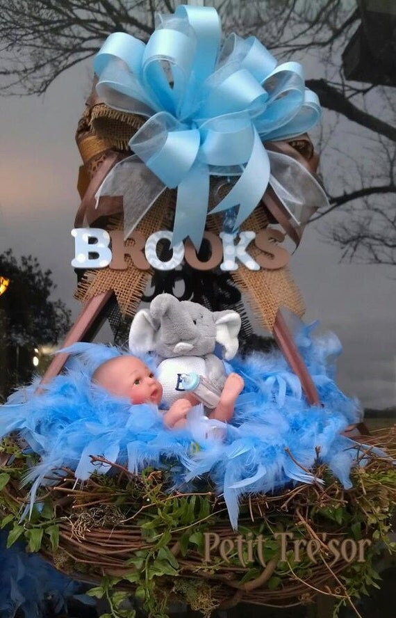 Items Similar To Unique Baby Boy Wreath For Shower