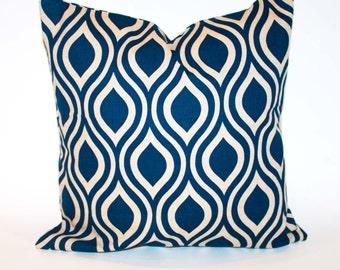 Premier Prints Nichole Pillows 16x16 Set of 2 Designer Pillow Cover navy Pillowcases